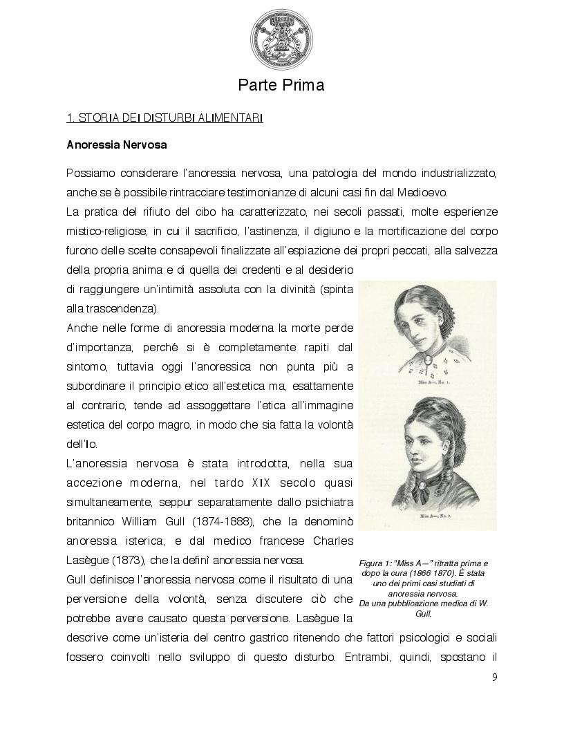 Anteprima della tesi: Psicologia del comportamento alimentare. Il ruolo dello psicologo nel trattamento delle problematiche alimentari, Pagina 4