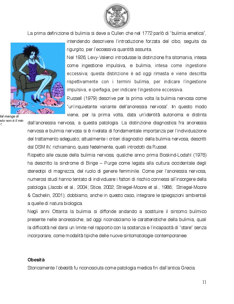 Anteprima della tesi: Psicologia del comportamento alimentare. Il ruolo dello psicologo nel trattamento delle problematiche alimentari, Pagina 6