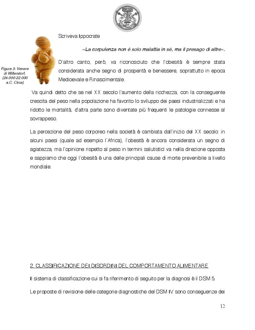 Anteprima della tesi: Psicologia del comportamento alimentare. Il ruolo dello psicologo nel trattamento delle problematiche alimentari, Pagina 7