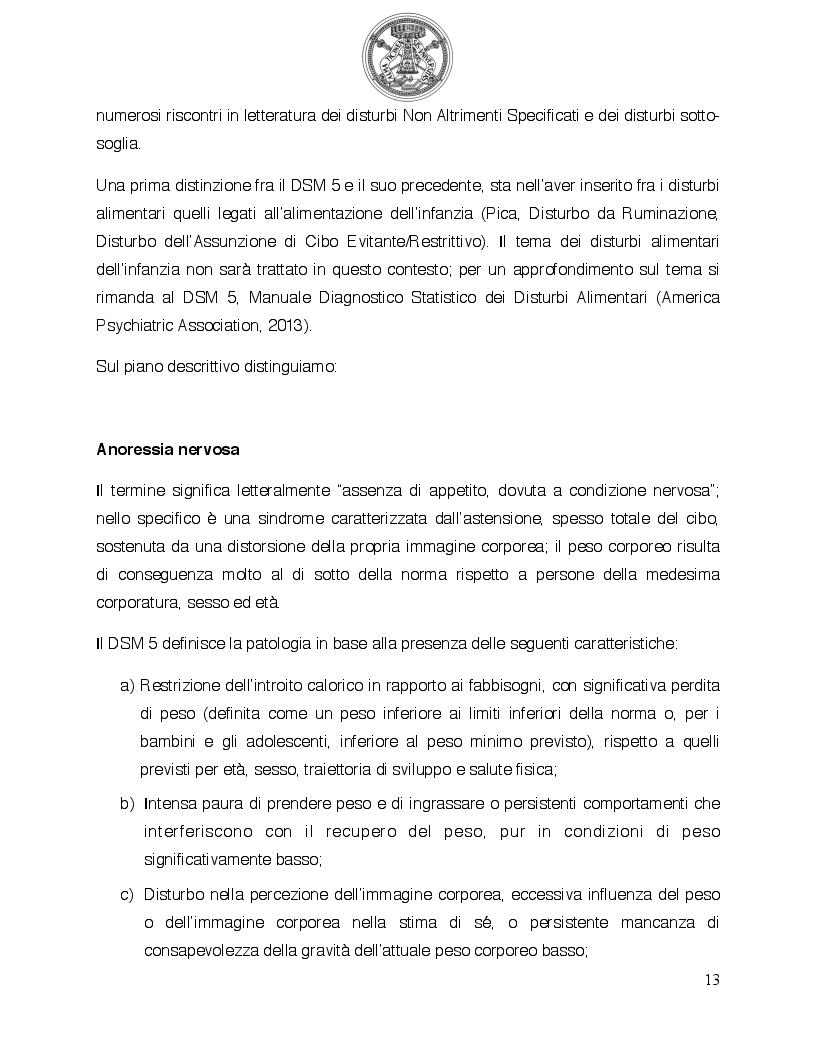 Anteprima della tesi: Psicologia del comportamento alimentare. Il ruolo dello psicologo nel trattamento delle problematiche alimentari, Pagina 8