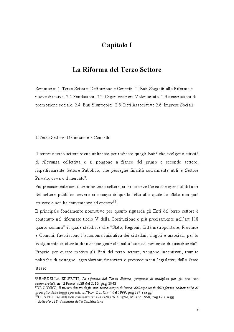 Anteprima della tesi: La Riforma del Terzo Settore: L'Impresa Sociale, Pagina 4