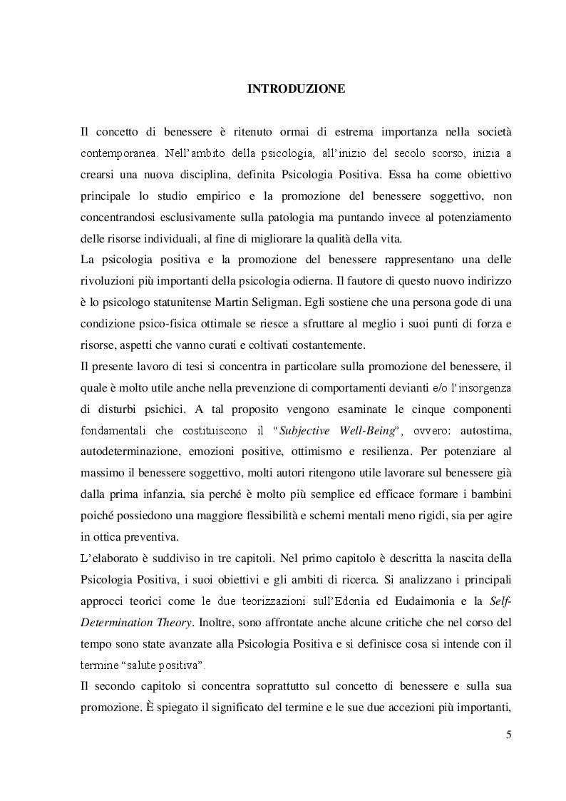 Anteprima della tesi: Coltivare il benessere attraverso il pensiero psicologico positivo, Pagina 2