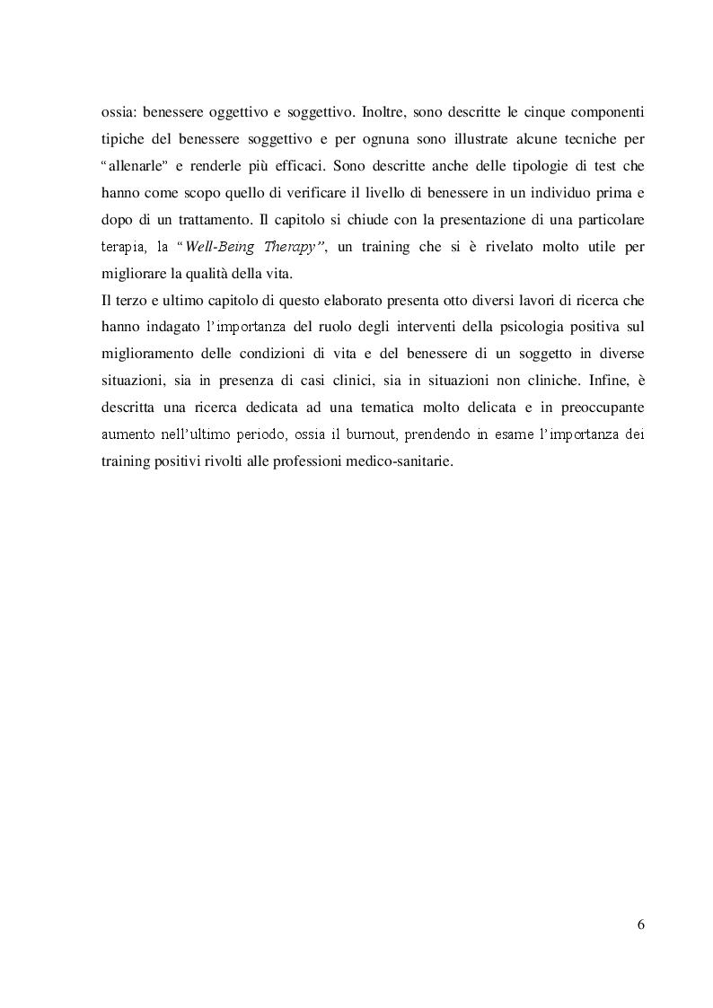 Anteprima della tesi: Coltivare il benessere attraverso il pensiero psicologico positivo, Pagina 3