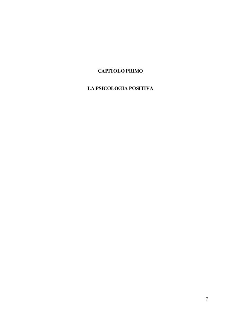 Anteprima della tesi: Coltivare il benessere attraverso il pensiero psicologico positivo, Pagina 4