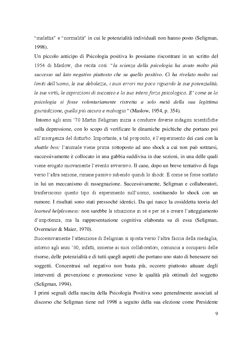 Anteprima della tesi: Coltivare il benessere attraverso il pensiero psicologico positivo, Pagina 6