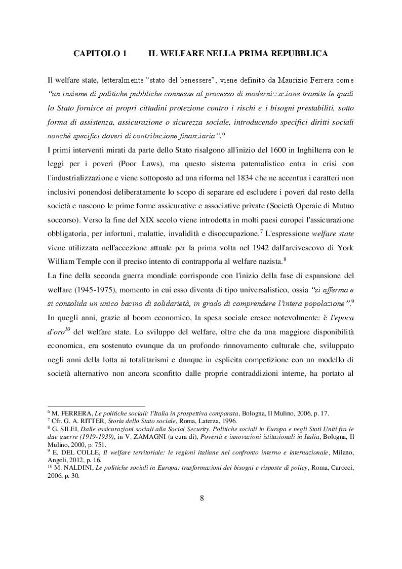 Anteprima della tesi: Welfare e infanzia nella Bologna del secondo dopoguerra, Pagina 5