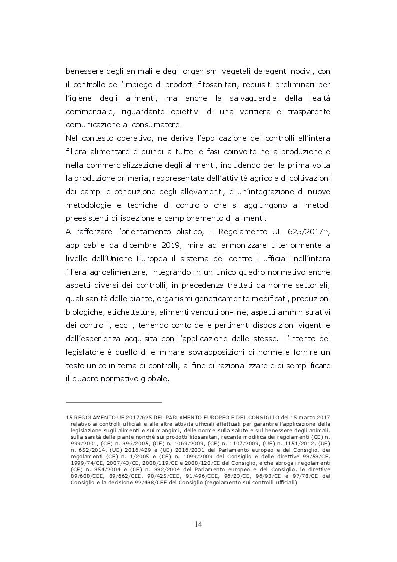 Estratto dalla tesi: Funzioni del Coordinatore Tecnico della Prevenzione nell'Ambiente e nei Luoghi di Lavoro, nell'ambito dell'attività di controllo ufficiale degli alimenti di competenza del SIAN, Servizio di Igiene degli Alimenti e della Nutrizione