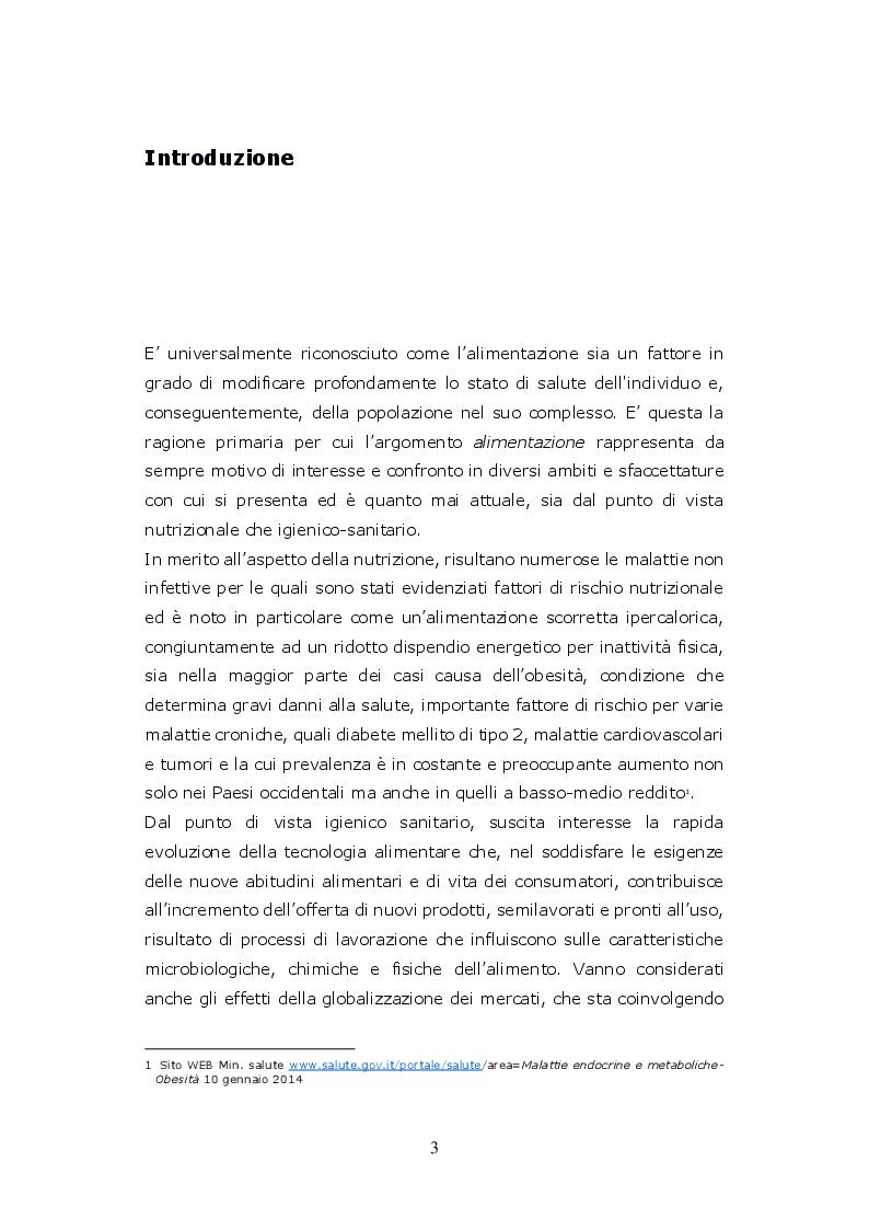 Anteprima della tesi: Funzioni del Coordinatore Tecnico della Prevenzione nell'Ambiente e nei Luoghi di Lavoro, nell'ambito dell'attività di controllo ufficiale degli alimenti di competenza del SIAN, Servizio di Igiene degli Alimenti e della Nutrizione, Pagina 2