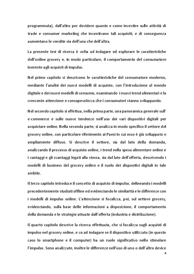 Anteprima della tesi: Online Grocery: acquisti di impulso e ruolo del device, Pagina 3
