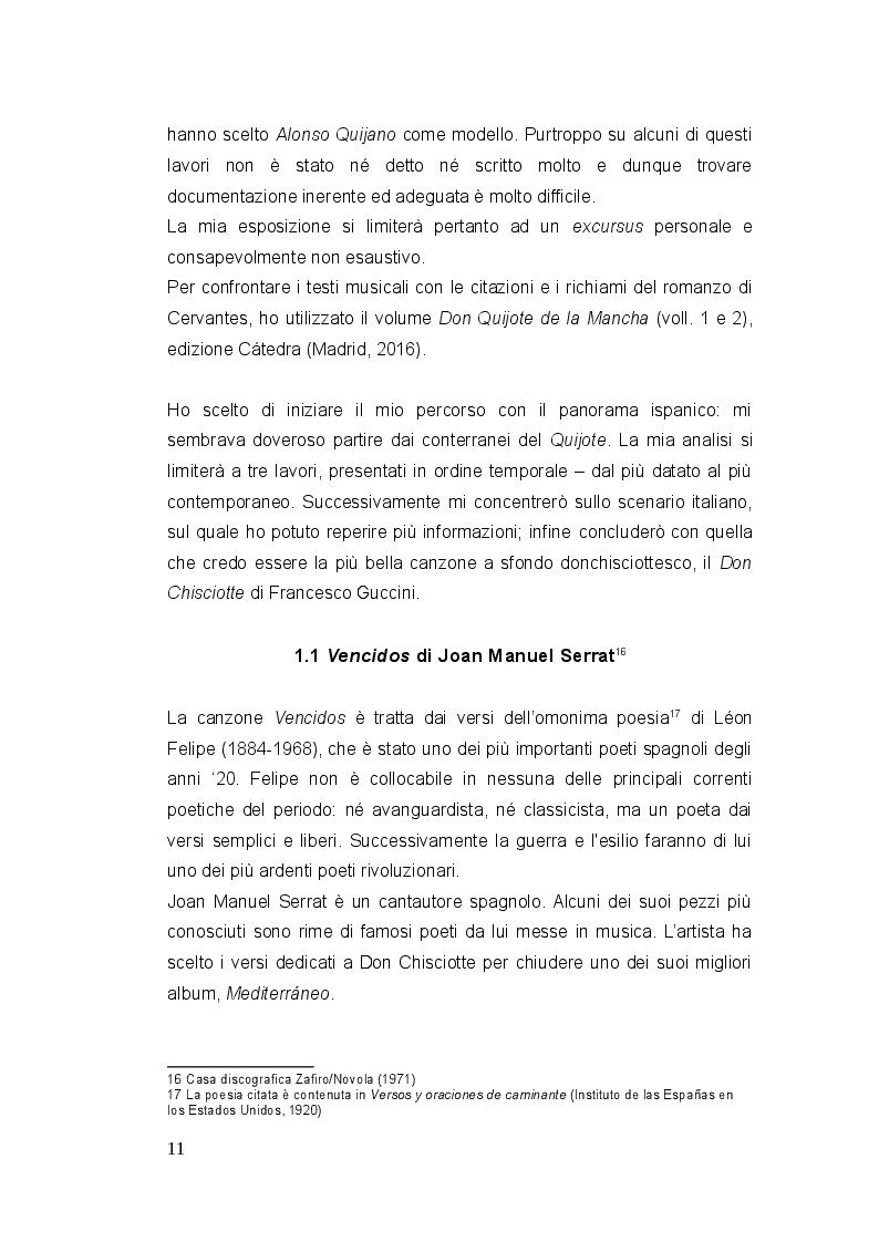 Estratto dalla tesi: Don Chisciotte di Francesco Guccini - Uno sguardo al panorama musicale italiano e ispanico