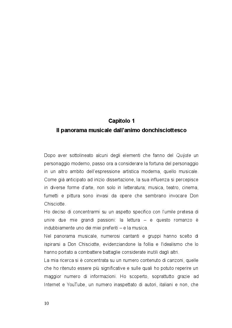 Anteprima della tesi: Don Chisciotte di Francesco Guccini - Uno sguardo al panorama musicale italiano e ispanico, Pagina 6