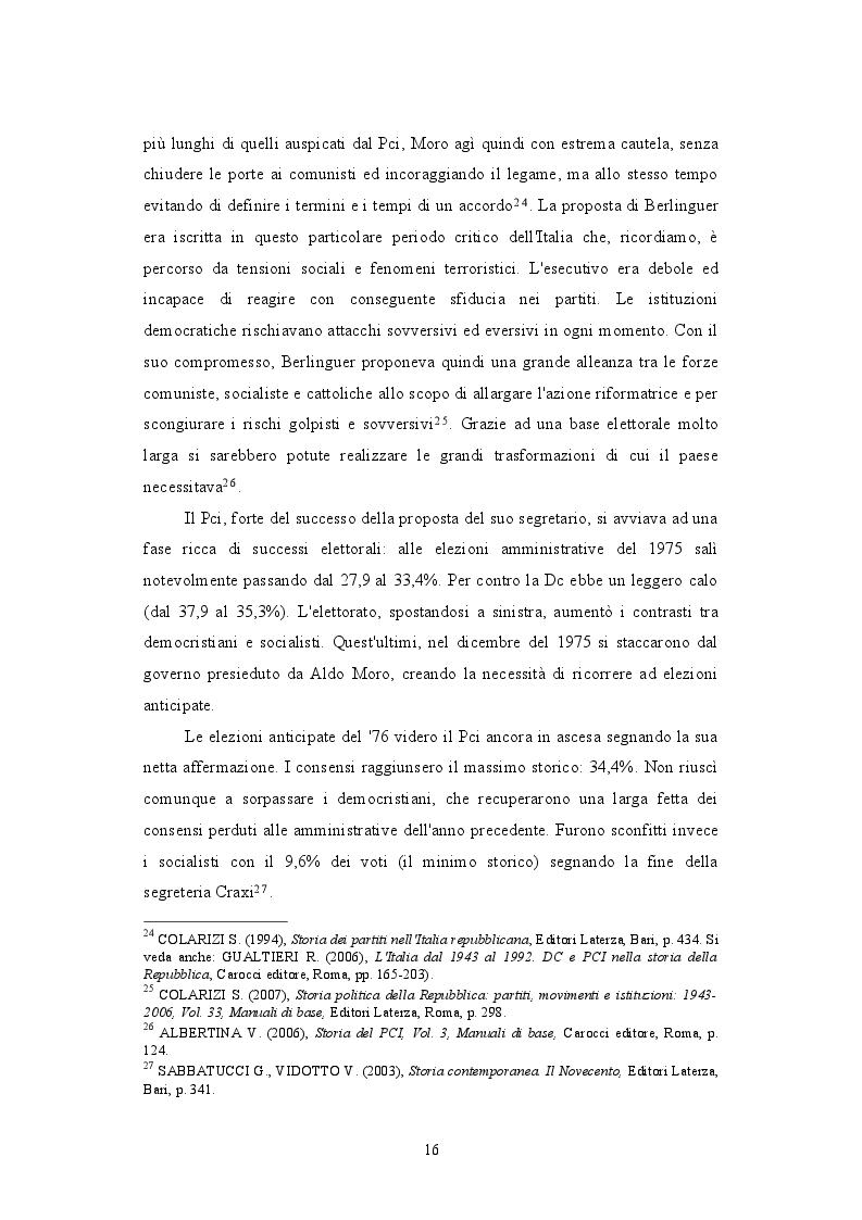 Estratto dalla tesi: Il PCI e il dibattito sull'aborto: protagonista o attore comprimario? 1979-1981