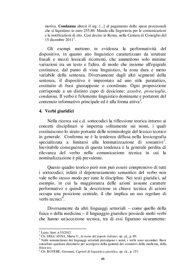 Anteprima della tesi: Il linguaggio giuridico: analisi linguistica e difficoltà traduttive. Studio applicato alle sentenze della Corte dei Conti (2009 - 2013), Pagina 10