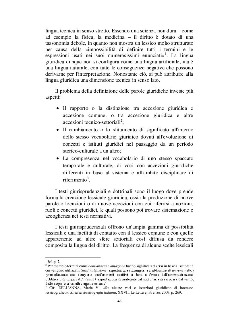 Anteprima della tesi: Il linguaggio giuridico: analisi linguistica e difficoltà traduttive. Studio applicato alle sentenze della Corte dei Conti (2009 - 2013), Pagina 4