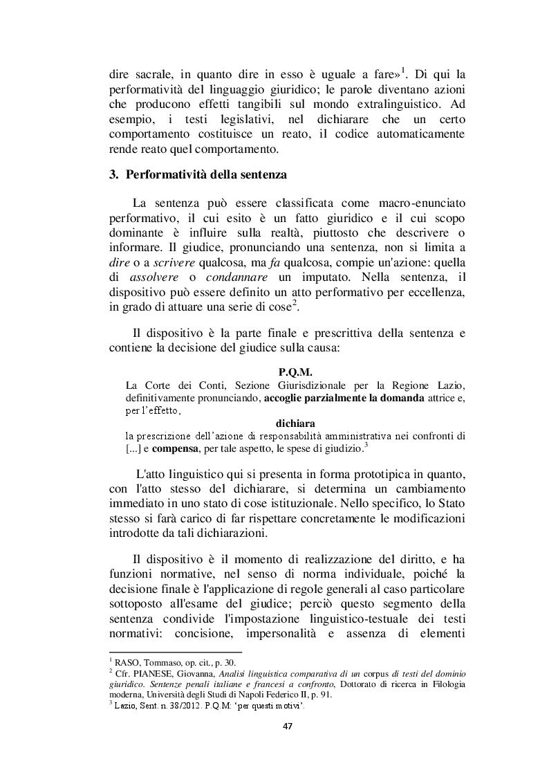 Anteprima della tesi: Il linguaggio giuridico: analisi linguistica e difficoltà traduttive. Studio applicato alle sentenze della Corte dei Conti (2009 - 2013), Pagina 8