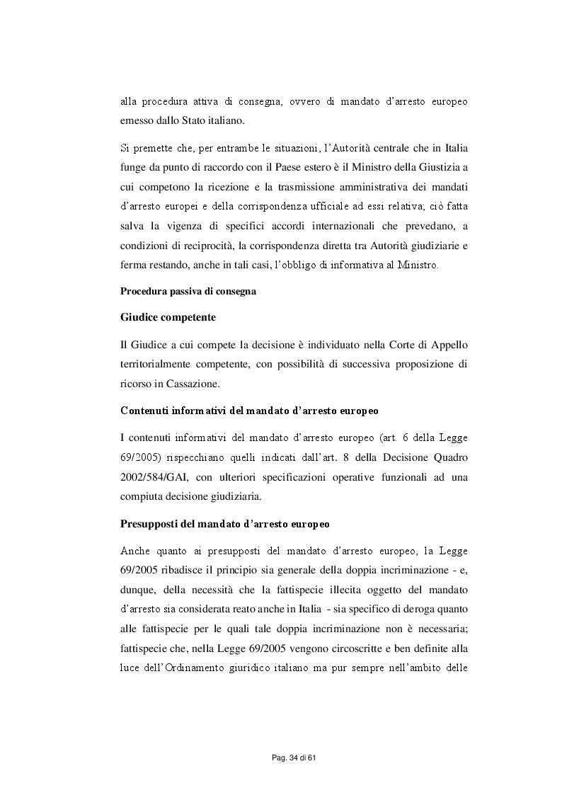 Anteprima della tesi: Il Mandato d'arresto europeo nel contesto normativo e giurisprudenziale, Pagina 6