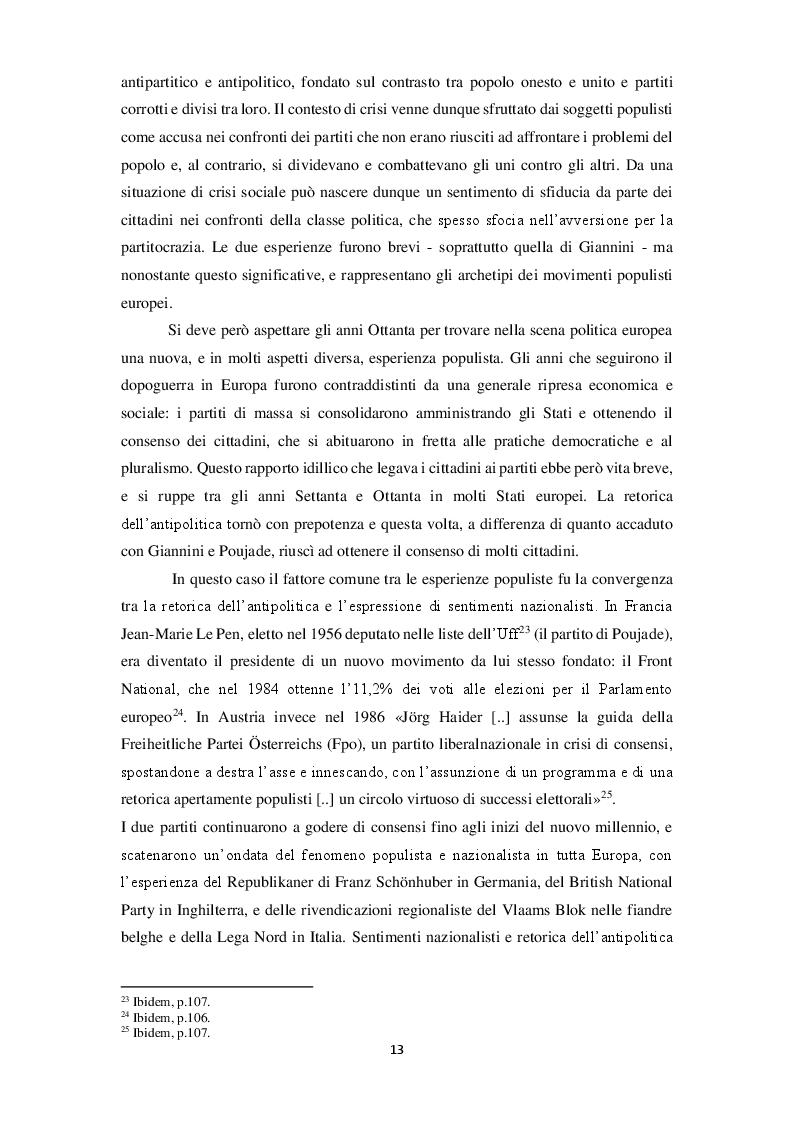Anteprima della tesi: La narrazione populista su Twitter. Analisi della comunicazione dei leader italiani durante la campagna per le politiche 2018, Pagina 10