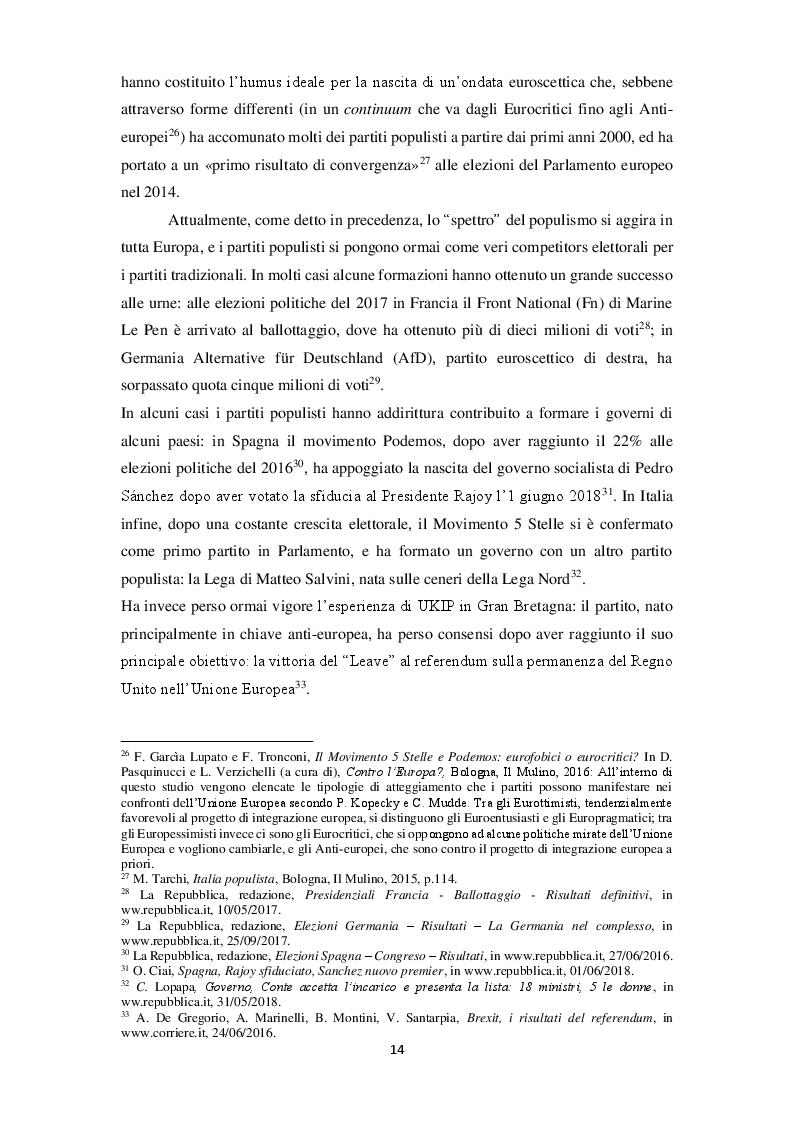 Anteprima della tesi: La narrazione populista su Twitter. Analisi della comunicazione dei leader italiani durante la campagna per le politiche 2018, Pagina 11