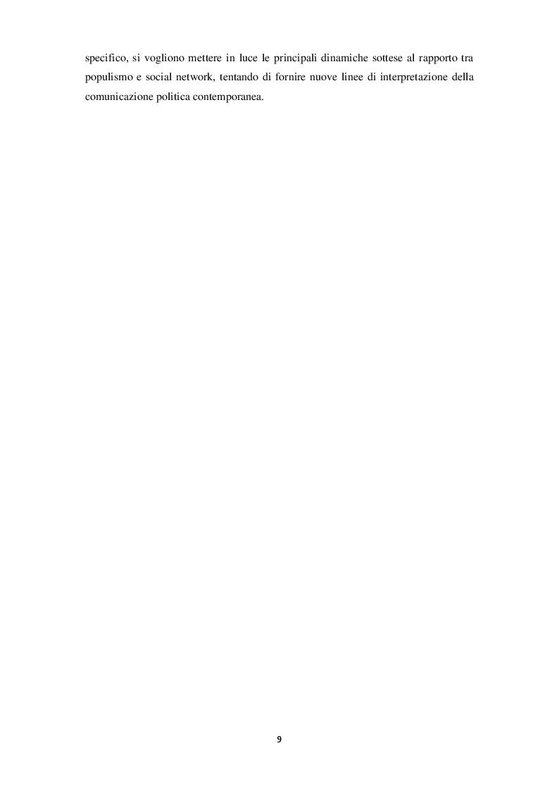 Anteprima della tesi: La narrazione populista su Twitter. Analisi della comunicazione dei leader italiani durante la campagna per le politiche 2018, Pagina 7