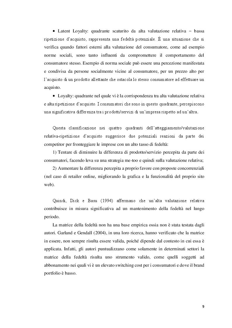 Anteprima della tesi: La segmentazione della clientela attraverso l'uso del data mining: un'applicazione nell'e-commerce, Pagina 8