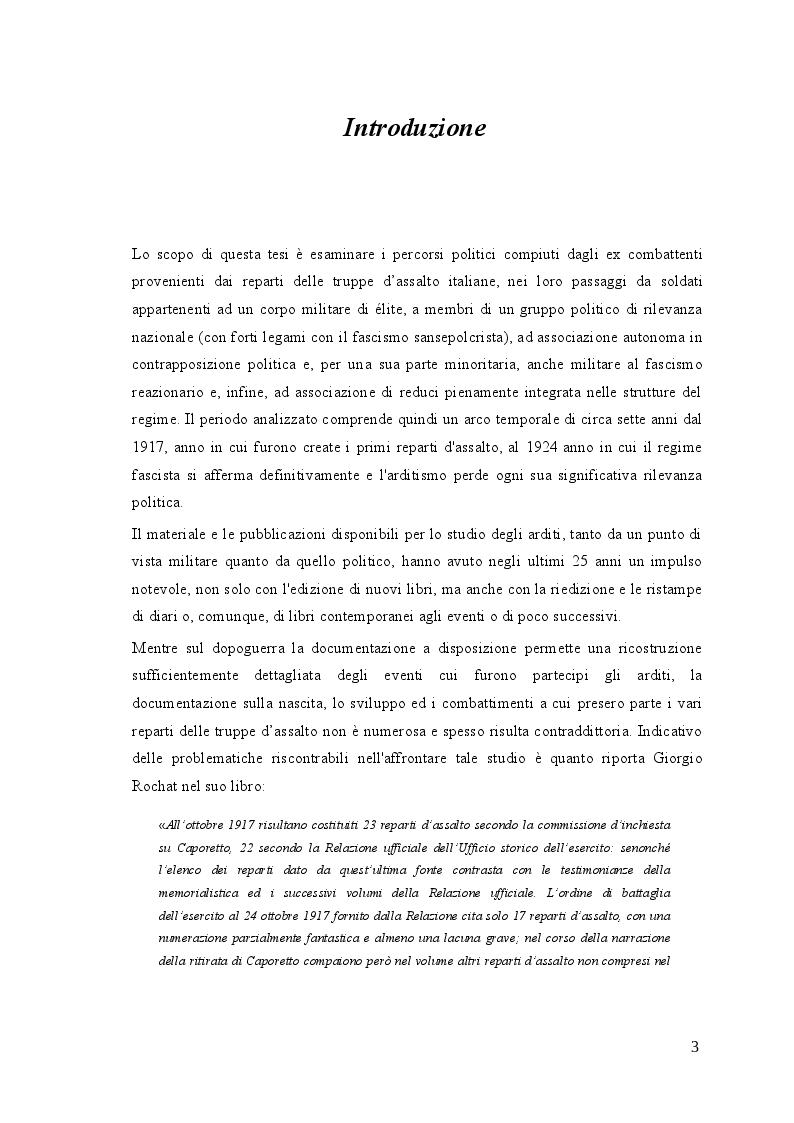 Anteprima della tesi: Gli arditi: dal fronte alla politica (1917-1923), Pagina 2