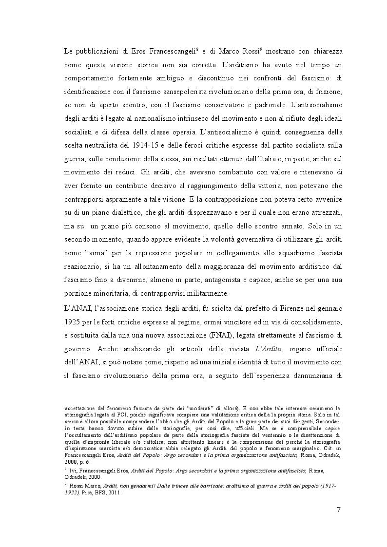 Anteprima della tesi: Gli arditi: dal fronte alla politica (1917-1923), Pagina 6