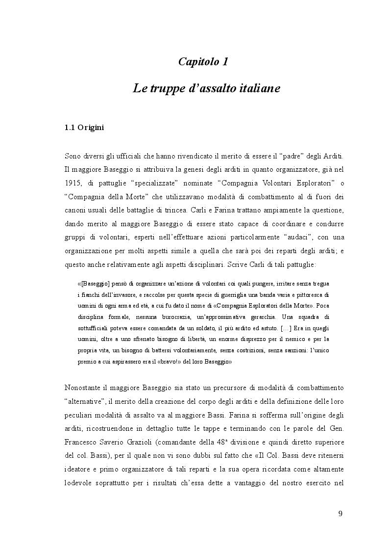 Anteprima della tesi: Gli arditi: dal fronte alla politica (1917-1923), Pagina 8