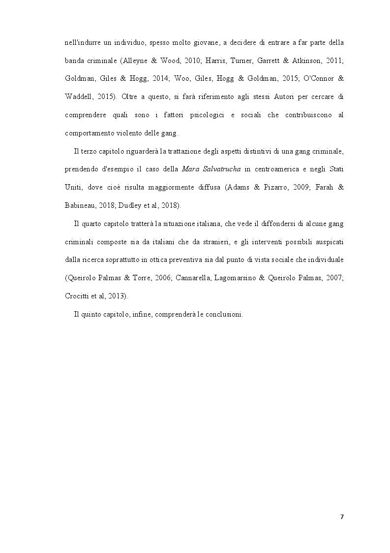 Anteprima della tesi: Analisi della letteratura sulle gang criminali, il loro comportamento e i fattori psicologici e sociali associati all'ingresso di nuovi membri al loro interno, Pagina 3