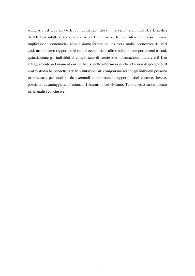 Anteprima della tesi: Le varie fattispecie di asimmetria informativa, Pagina 3