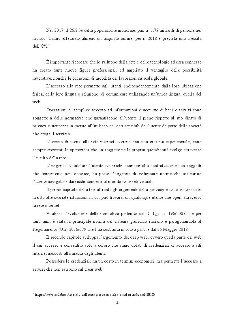 Anteprima della tesi: Deep web: Libertà o trappola sotto la rete?, Pagina 3