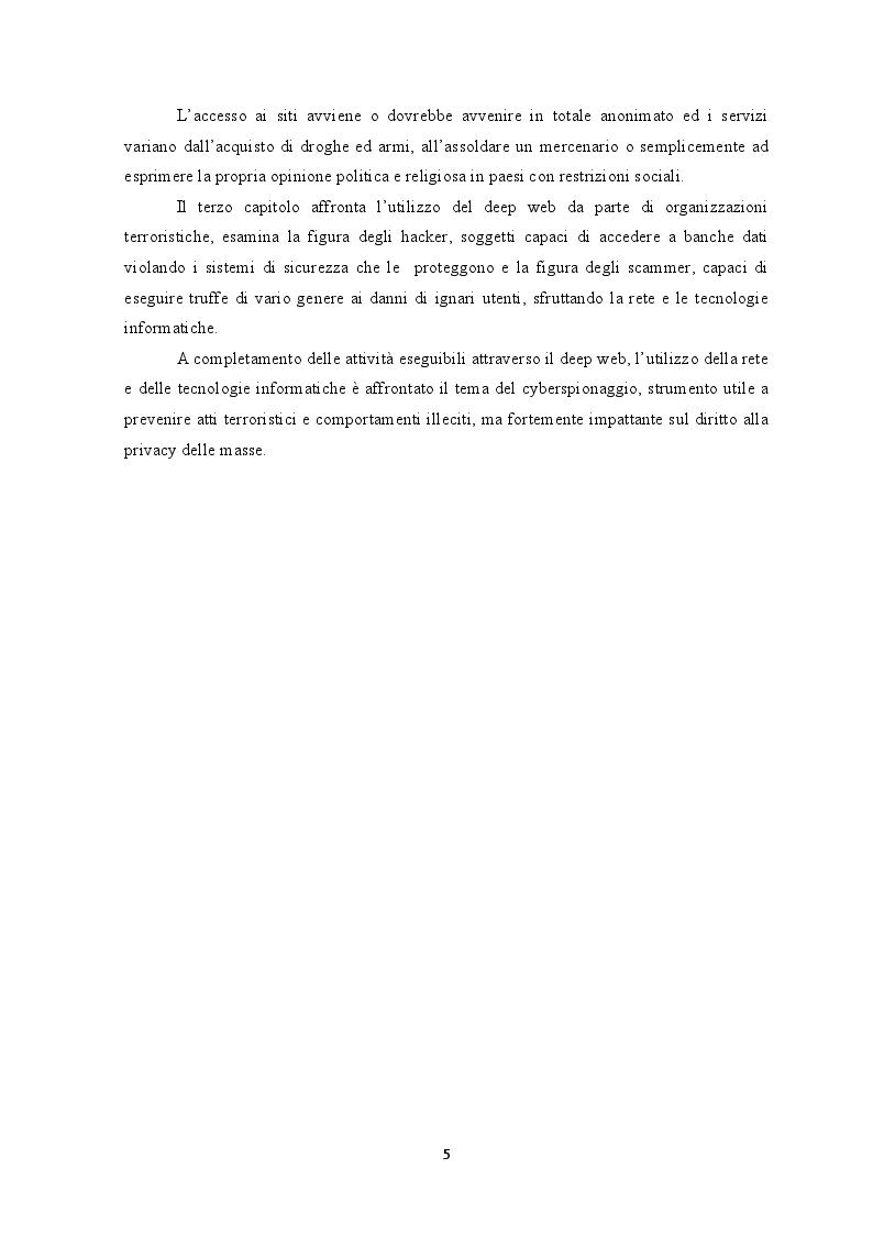 Anteprima della tesi: Deep web: Libertà o trappola sotto la rete?, Pagina 4
