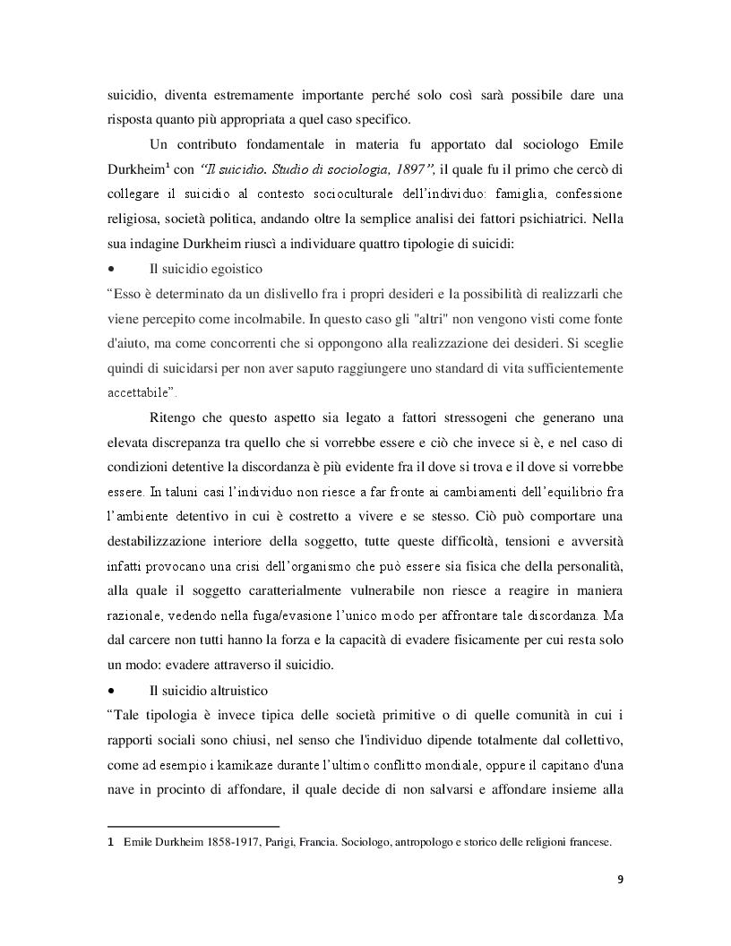 Estratto dalla tesi: Correlazione tra eventi critici di evasione e suicidio. Analisi e relativi interventi di Polizia Giudiziaria