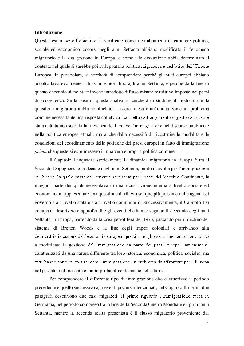 Anteprima della tesi: La crisi dei primi anni Settanta come punto di svolta del fenomeno migratorio in Europa, Pagina 2