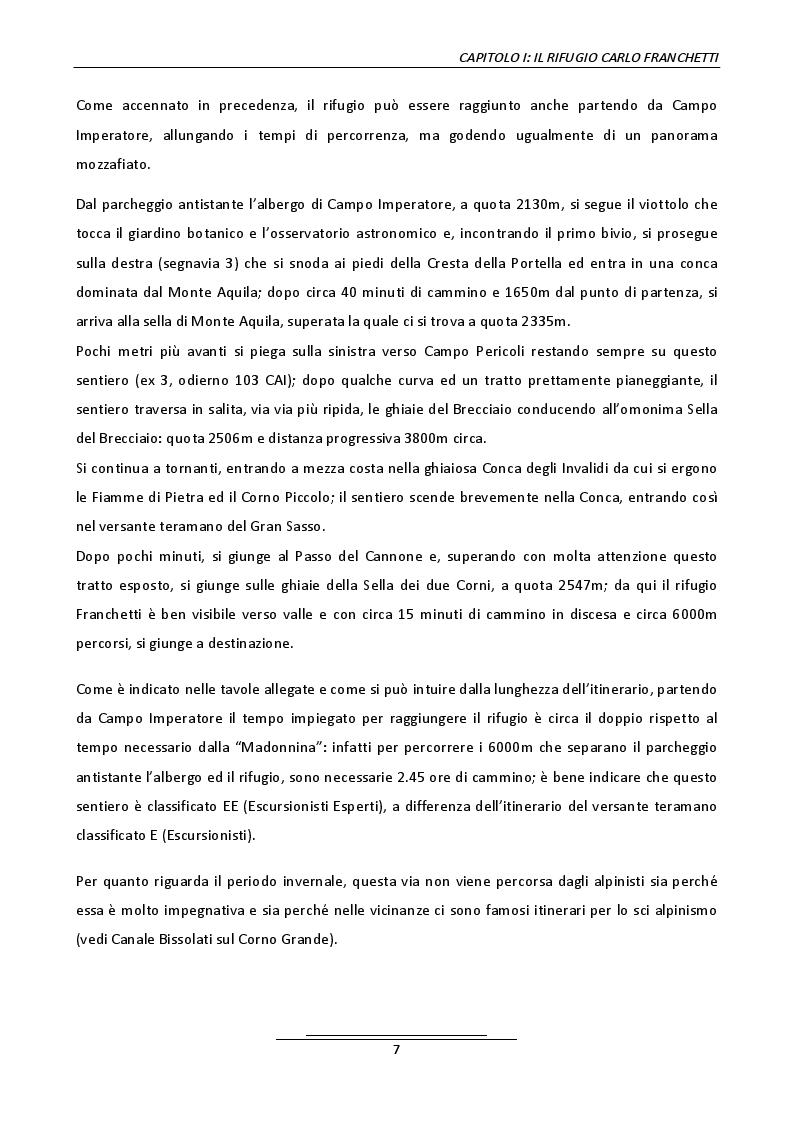 Anteprima della tesi: Progetto di un belvedere panoramico al rifugio Carlo Franchetti, Pagina 5