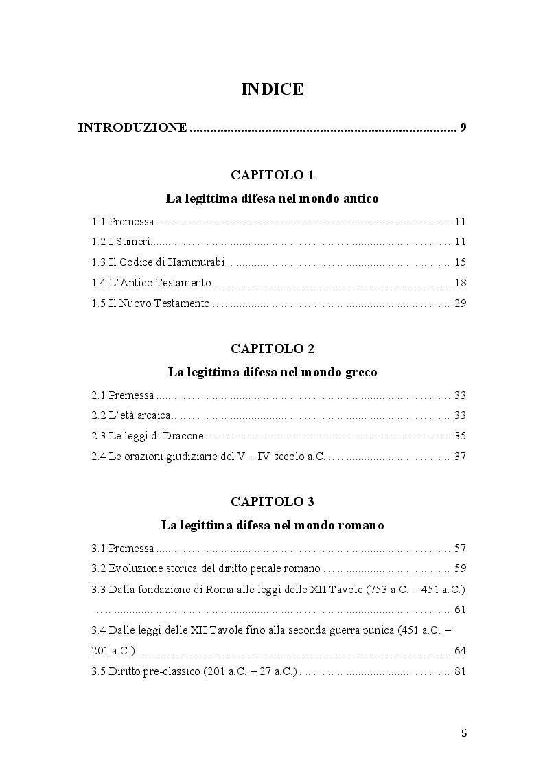Indice della tesi: Vim Vi Repellere Licet: la legittima difesa nel diritto romano, Pagina 1
