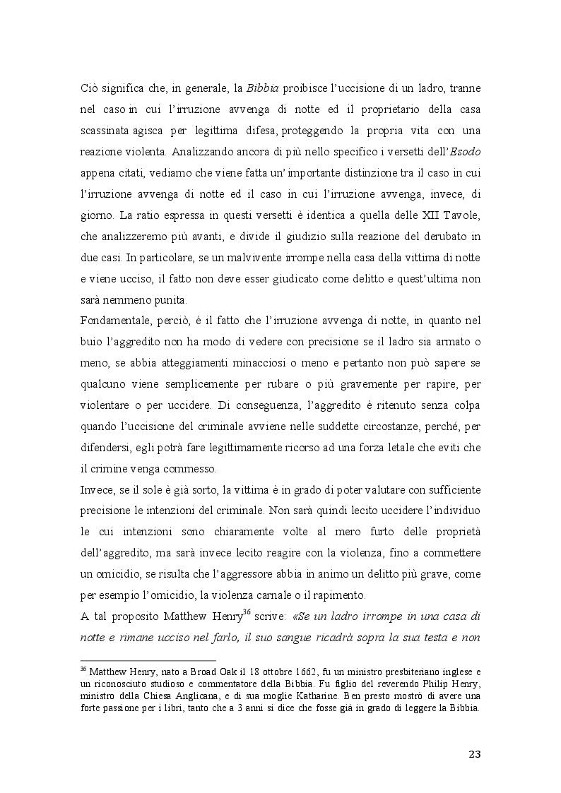 Anteprima della tesi: Vim Vi Repellere Licet: la legittima difesa nel diritto romano, Pagina 10