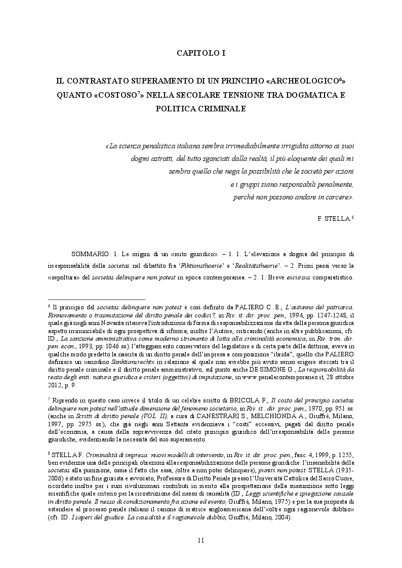 Estratto dalla tesi: Responsabilità ex crimine degli enti e delitti colposi in violazione delle norme sulla salute e sicurezza sul lavoro. Profili critici e prospettive.