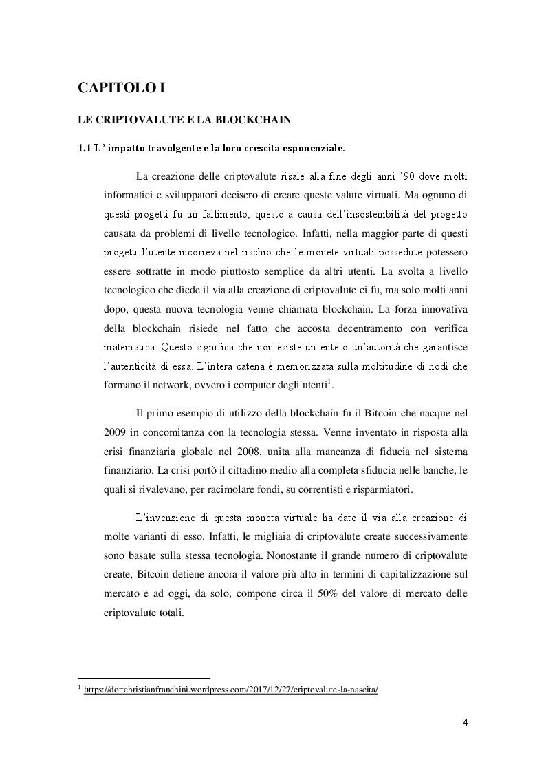 Anteprima della tesi: Applicazioni ed usi della blockchain e livello di conoscenza delle criptovalute tra i giovani, Pagina 3
