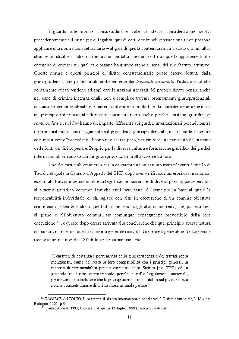 Estratto dalla tesi: Diritto internazionale penale: fondamenti teorico-istituzionali e prassi evolutiva