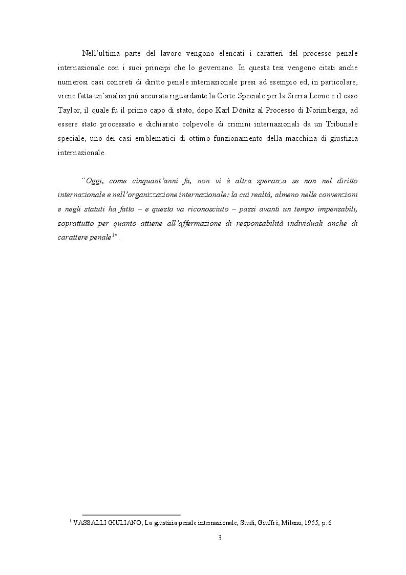 Anteprima della tesi: Diritto internazionale penale: fondamenti teorico-istituzionali e prassi evolutiva, Pagina 3