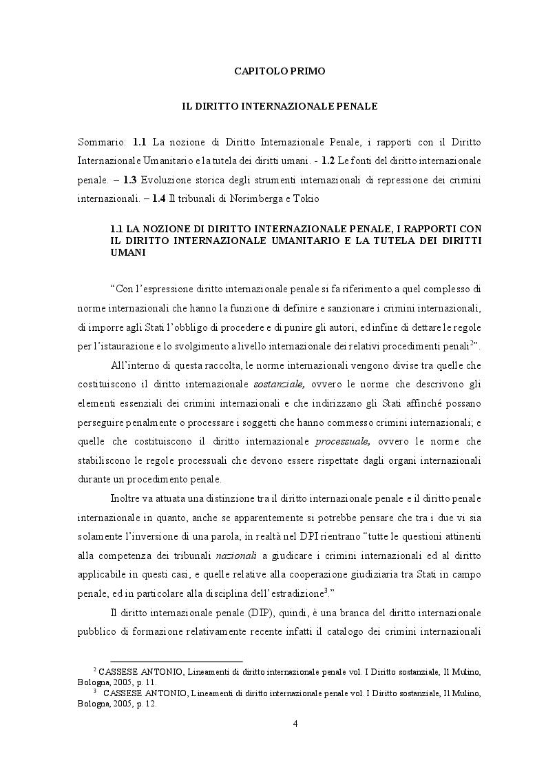 Anteprima della tesi: Diritto internazionale penale: fondamenti teorico-istituzionali e prassi evolutiva, Pagina 4