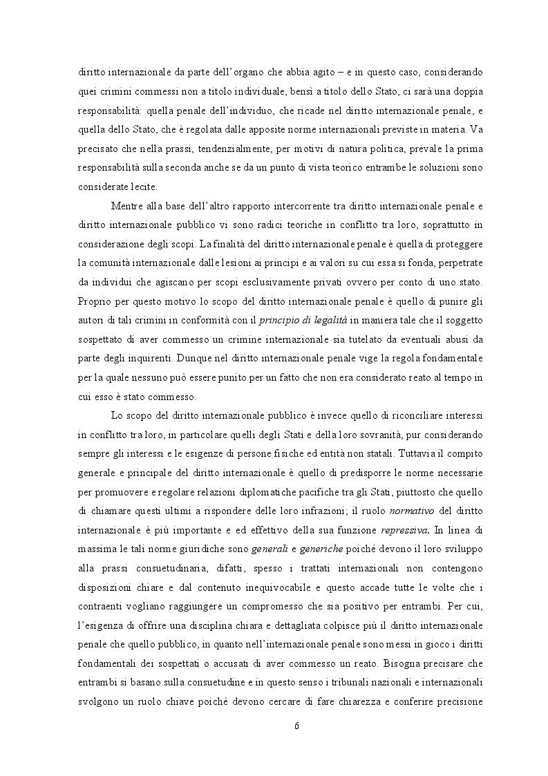 Anteprima della tesi: Diritto internazionale penale: fondamenti teorico-istituzionali e prassi evolutiva, Pagina 6