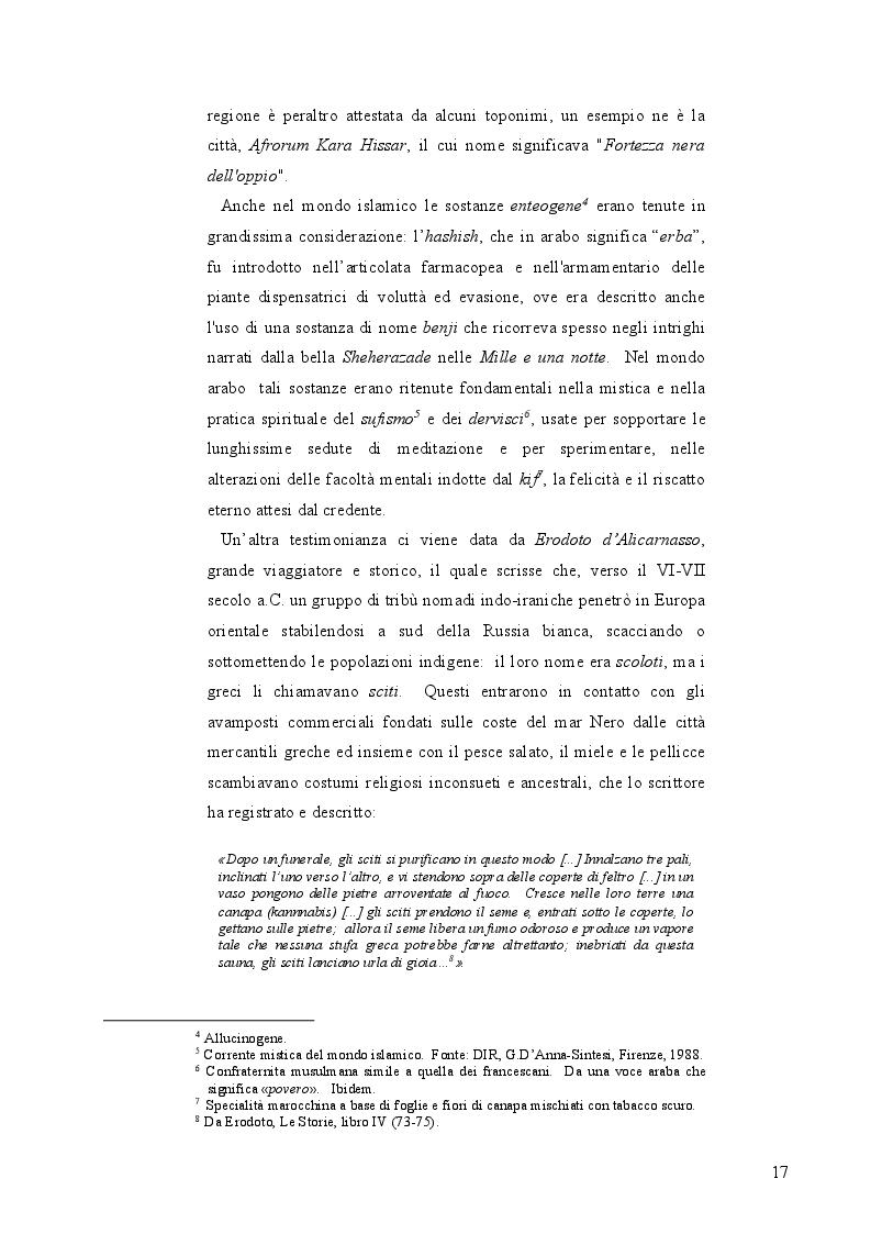 Estratto dalla tesi: La mobilità psichedelica nell'Unione Europea. Origini e sviluppo del turismo per droga