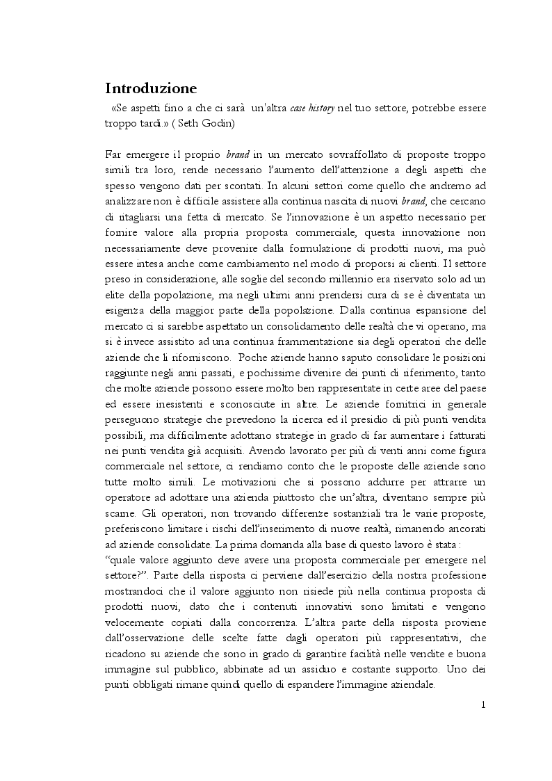 Anteprima della tesi: Estetica professionale. Adottare una strategia omnicanale, per differenziare l'offerta e creare valore aggiunto, Pagina 2