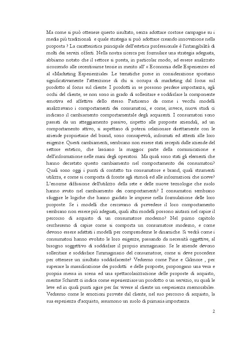 Anteprima della tesi: Estetica professionale. Adottare una strategia omnicanale, per differenziare l'offerta e creare valore aggiunto, Pagina 3