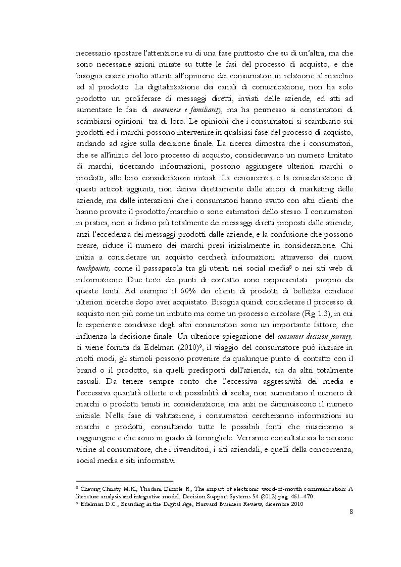 Anteprima della tesi: Estetica professionale. Adottare una strategia omnicanale, per differenziare l'offerta e creare valore aggiunto, Pagina 9