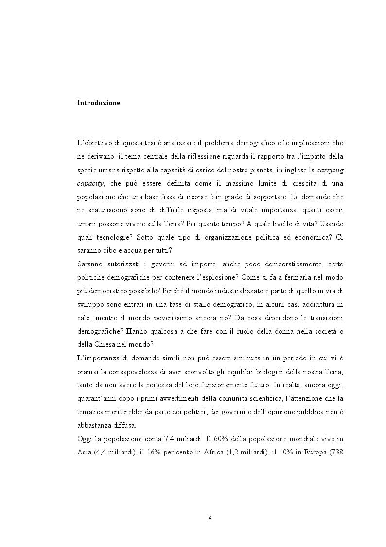 Anteprima della tesi: Sovrappopolazione e collasso ambientale, Pagina 2