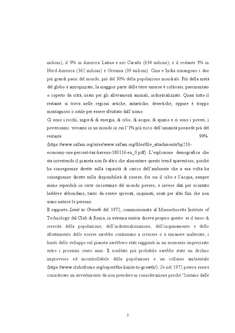 Anteprima della tesi: Sovrappopolazione e collasso ambientale, Pagina 3