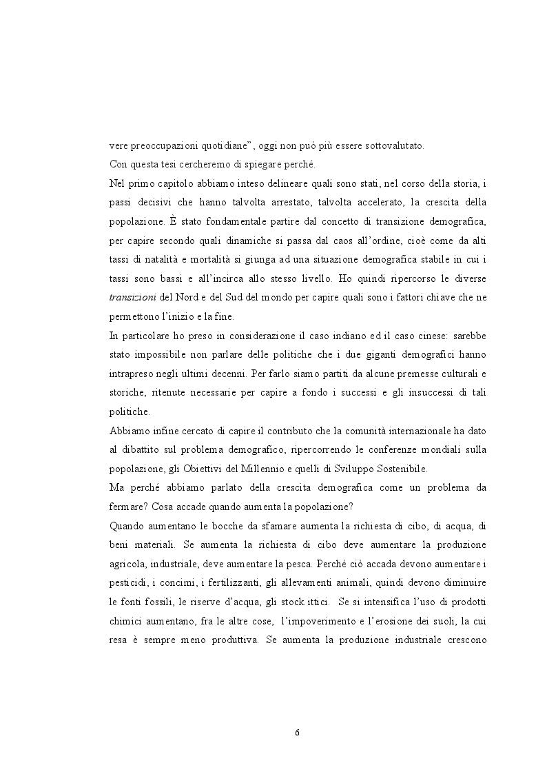Anteprima della tesi: Sovrappopolazione e collasso ambientale, Pagina 4