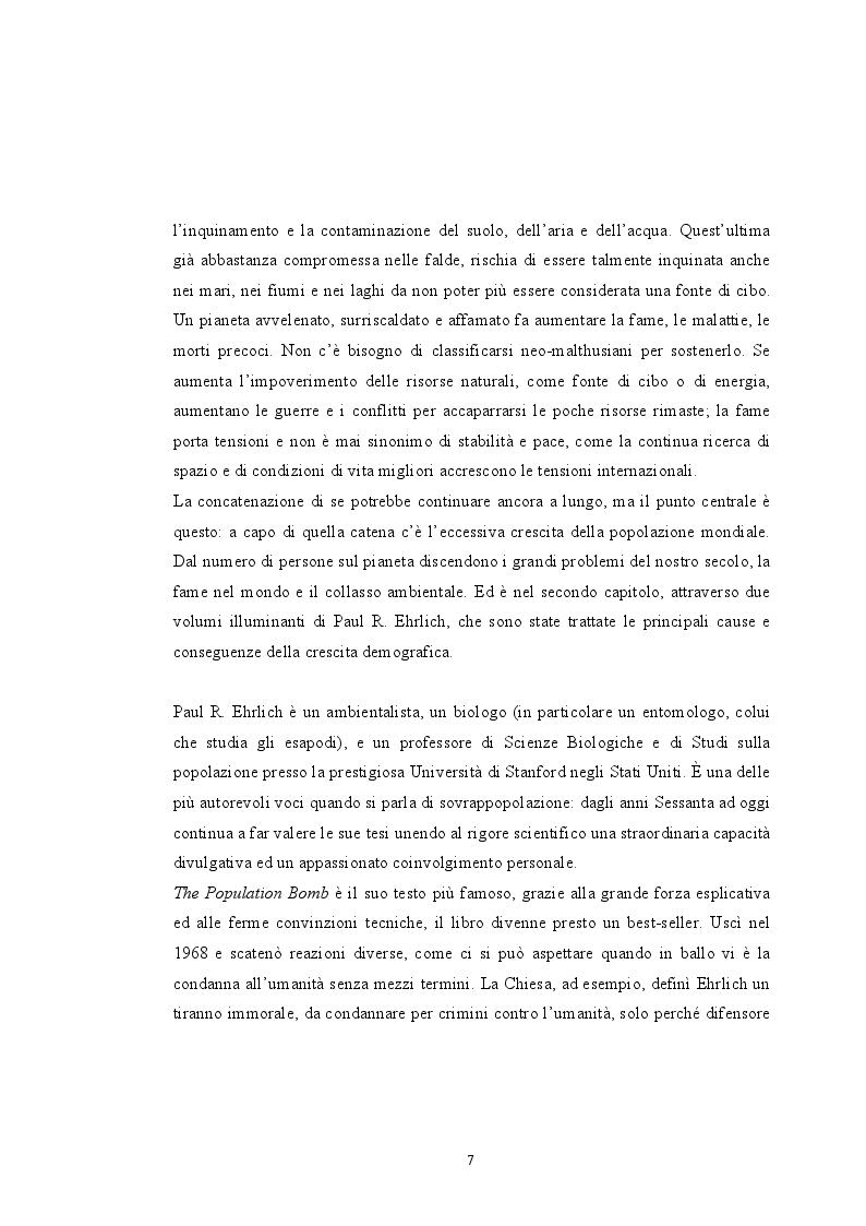 Anteprima della tesi: Sovrappopolazione e collasso ambientale, Pagina 5